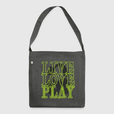 headset liveloveplay - Shoulder Bag made from recycled material