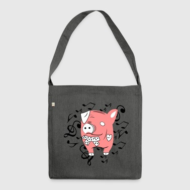 Music Pig Color Variabile - Borsa in materiale riciclato