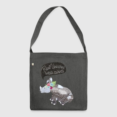Real Unicorns wear curves - Schultertasche aus Recycling-Material
