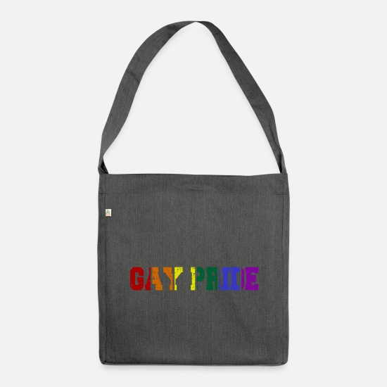 Pride Bags & Backpacks - Gay Pride - Shoulder Bag recycled dark grey heather