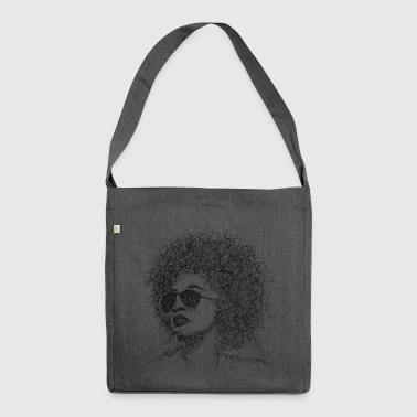 Afro Scribble - Schultertasche aus Recycling-Material