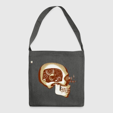 Steampunk Automaton / Robot Skull #6 Men's Organic - Shoulder Bag made from recycled material