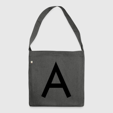 The A Anfangsbuchstabe - Schultertasche aus Recycling-Material