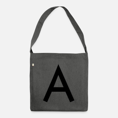 Initial The A initial letter - Shoulder Bag made from recycled material