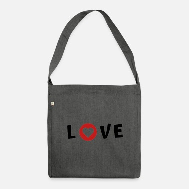 I Love Love I Love DS - Schultertasche aus Recycling-Material