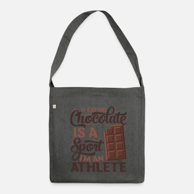 Sporty chocolate athlete - Shoulder Bag recycled