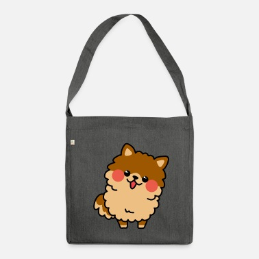 Kawaii Puppy Pomerania Chibi - Borsa in materiale riciclato