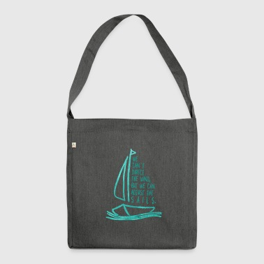 sailing, sailing - Shoulder Bag made from recycled material
