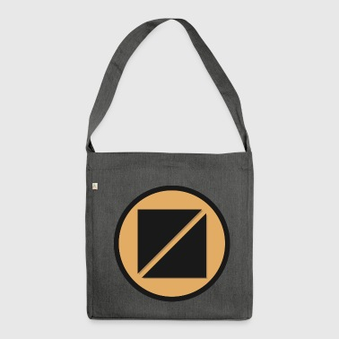 Futuristic sign - Shoulder Bag made from recycled material