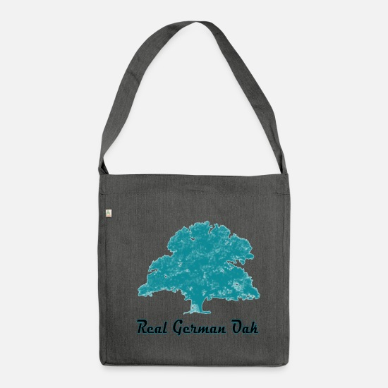 Expression Bags & Backpacks - real german oak blue2 - Shoulder Bag recycled dark grey heather