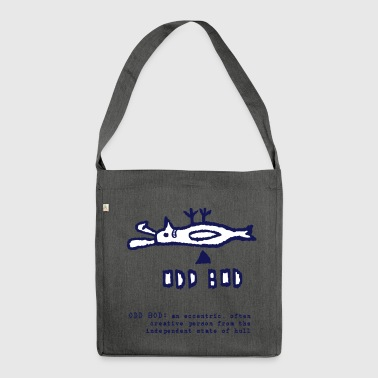 Odd Bod smiling - Shoulder Bag made from recycled material