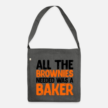 Brownies Brownies Baker Graphic - Bandolera de material reciclado