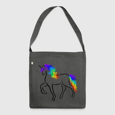 Unicorn Brushstroke Rainbow - Shoulder Bag made from recycled material