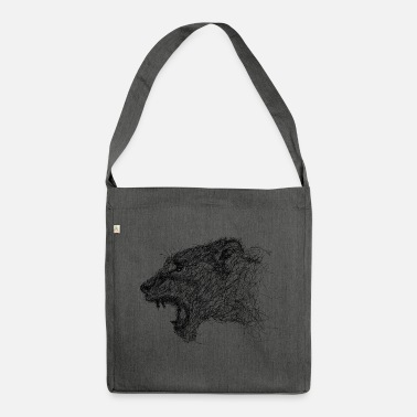 Scribble lioness Scribble - Shoulder Bag made from recycled material