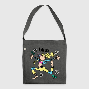 'bliss' - groovy chick friend - Shoulder Bag made from recycled material