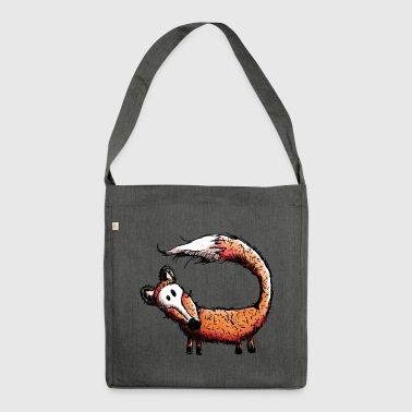 Fox in the forest - Foxes - Wild - Gift - Comic - Shoulder Bag made from recycled material