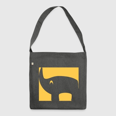 Inverted rhino - Shoulder Bag made from recycled material