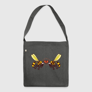 Beautiful wasps irremediably falling in love - Shoulder Bag made from recycled material