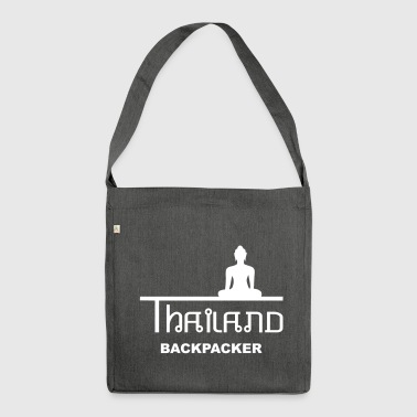 Thailand Backpacking Asien Buddha - Schultertasche aus Recycling-Material