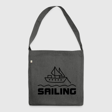 Yacht Sailing Yacht Sailing Sailing - Shoulder Bag made from recycled material