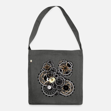 Steampunk Gears on your gear Shoulder Bag (Recycled Material - Sac bandoulière 100 % recyclé