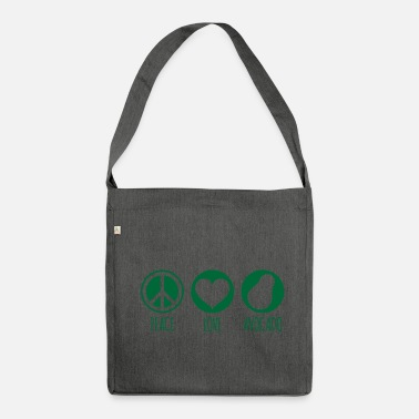 Green Peace Peace Love Avocado Green - Shoulder Bag made from recycled material