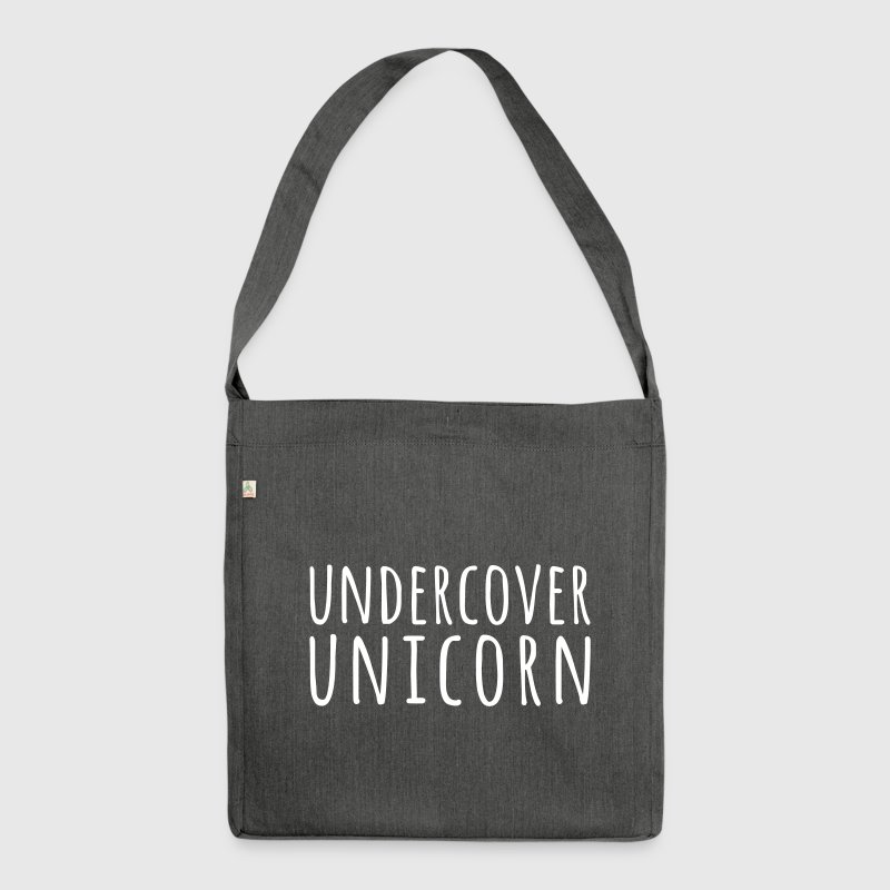 Undercover Unicorn Funny Quote - Shoulder Bag made from recycled material