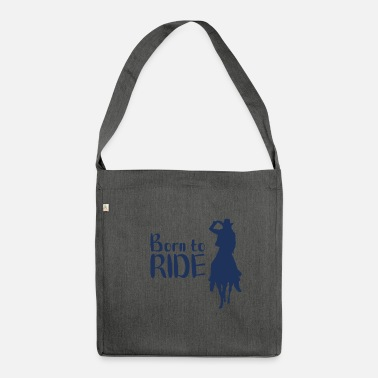 Horse Riding Horses Riding Horses Riding Horses Riding - Shoulder Bag recycled