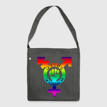 Vegan Feminist LGBTQIA+ - Shoulder Bag made from recycled material