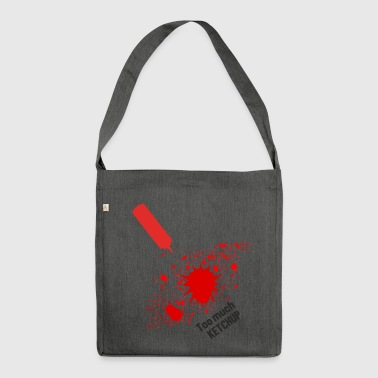 Ketchup stain - Shoulder Bag made from recycled material