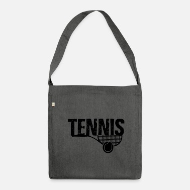 Tennis Ball Tennis rackets and ball - tennis - Shoulder Bag made from recycled material