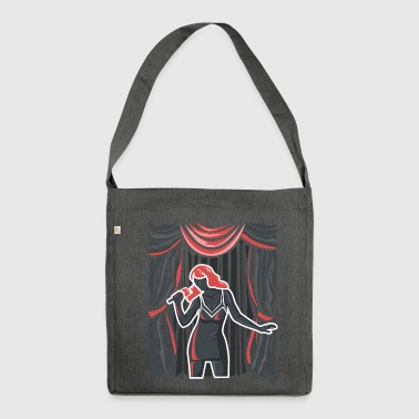 Singer on stage - Shoulder Bag made from recycled material