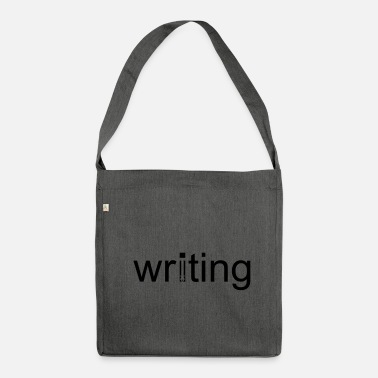 Writing Writing - Shoulder Bag made from recycled material