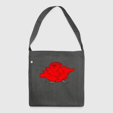 Red rose - Shoulder Bag made from recycled material