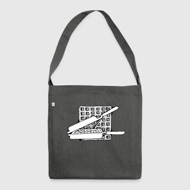 belgian waffles belgian waffles breakfast5 - Shoulder Bag made from recycled material