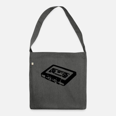 Audio Cassette Audio Cassette - Shoulder Bag made from recycled material