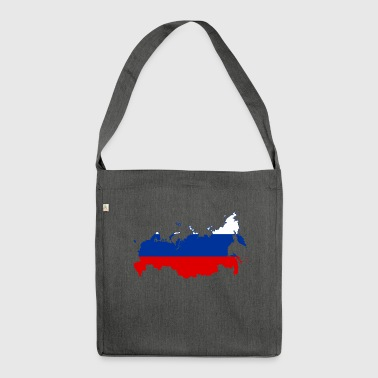 Russia map - Shoulder Bag made from recycled material
