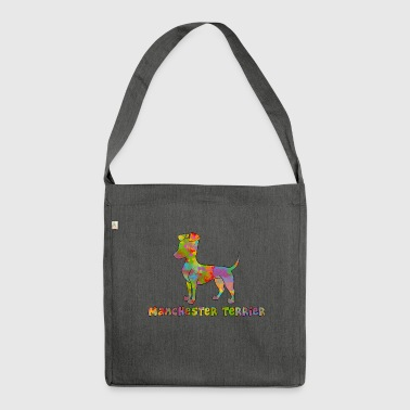 Manchester Terrier Multicolored - Shoulder Bag made from recycled material