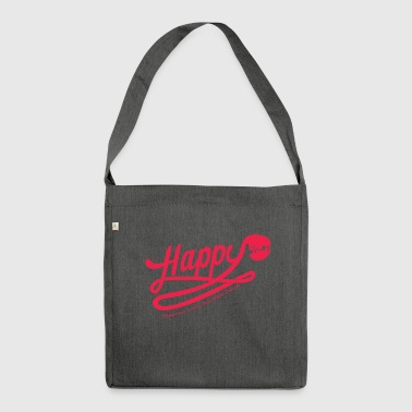 happy happiness - Sac bandoulière 100 % recyclé