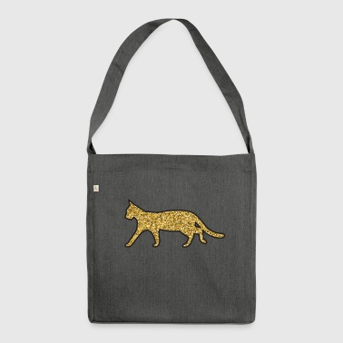 cat glitter - Borsa in materiale riciclato