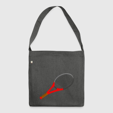 tennis racket - Shoulder Bag made from recycled material
