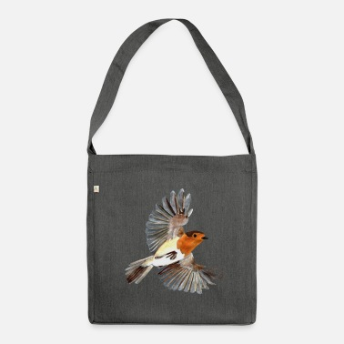 Robin robin - Shoulder Bag made from recycled material
