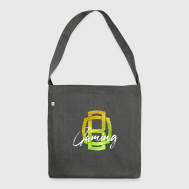 OB Gaming / White lettering - Shoulder Bag made from recycled material