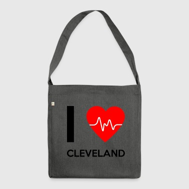 Cleveland Ich Love Cleveland - Ich liebe Cleveland - Schultertasche aus Recycling-Material
