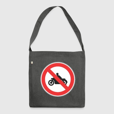 No motocycles - Shoulder Bag made from recycled material