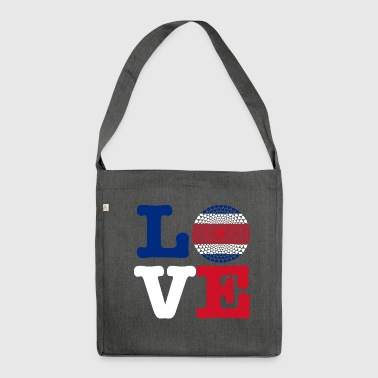 Costa rica heart - Shoulder Bag made from recycled material