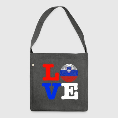 SLOVENIA HEART - Shoulder Bag made from recycled material