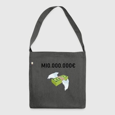 Million millionaire million euros gift idea - Shoulder Bag made from recycled material