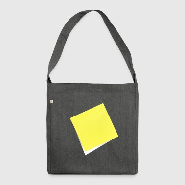 yellow sticky note, sticky note, sticky note - Shoulder Bag made from recycled material