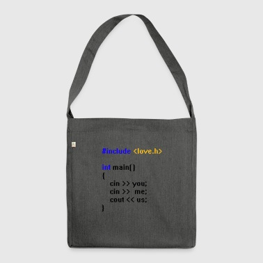 Coding Love Code - Shoulder Bag made from recycled material